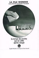 PUBLICITE  1968   WONDER  lampe de poche LUBOX