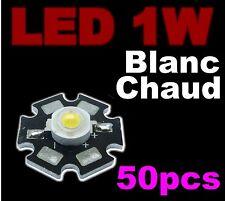 183/50# LED de puissance 1W  blanc chaud  50pcs -- 1W Warm white LED