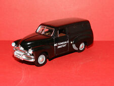 """MODIFIED 1956 FJ HOLDEN panel van HEARSE  with coffin inside """"MC FUNERALS"""" boxed"""
