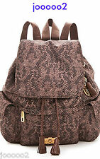 Juicy Couture Backpack Tote Handbag Trinity Rucks Snake Print Fast Free Shipping