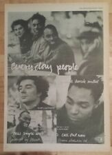 Everyday people I guess it  1990 press advert Full page 27 x 38 cm mini poster