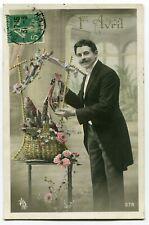CPA - Carte Postale - Fantaisie - 1er Avril - Homme - Poisson - 1911 (C8623)