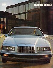 Mercury Cougar 1984 USA Market Sales Brochure Standard LS XR-7
