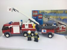 Lego City 7239 Fire Engine & Boat Rescue Set 2 Minifigures With Instructions