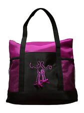 Girls Dance Tote Bag Ballet Slippers Large Purple