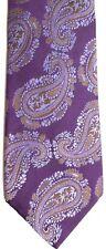 "Bachrach Men's Silk Tie 60.5"" X 3.5"" Purple w/ multi-color Geometric"