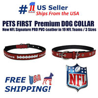 Pets First Best Dog Collar New NFL Signature PRO PVC-Leather Premium Dog Collar