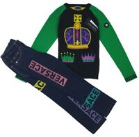 NEW Young Versace RRP £600 Kids Boys Childrens AGE 6 Jeans Top Jumper A205