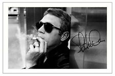 STEVE MCQUEEN SIGNED PHOTO PRINT AUTOGRAPH BULLITT THE GREAT ESCAPE