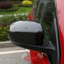 Carbon Fiber Print Door Mirror Cover Molding Trim For Jeep Compass 2017