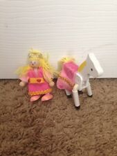 Melissa And Doug Wooden Princess And Horse Action Figure