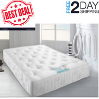 Firm Mattress  4FT6 King Orthopaedic Reflex Foam Spring  home furniture New UK