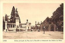 BR72698 lyon entree principale du parc de la tete d or et monument   france