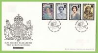 G.B.2002 Queen Mother set on u/a Royal Mail First Day Cover, Glamis