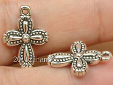 20pcs tibetan silver cross charm pendant necklace pendants findings 18mm B3475