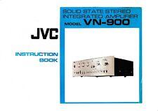 Bedienungsanleitung-Instruction Book for JVC Vn-900
