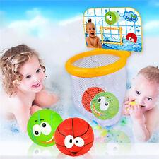 Baby Bathing Bathroom Pool Toy Basketball Shooting Hoop Vinyl Summer Play Water
