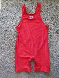 MATMAN Wrestling Co. Royal Red One Piece Suit USA Made Men's Size 2XL