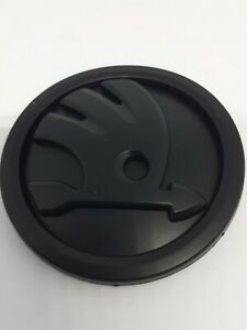 Skoda badge emblem 90mm Matt Black high quality free p&p
