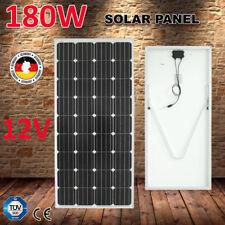 180W 12V MONO Solar Panel Kit RV CARAVAN Camping Power Charging with Bracket 4x4