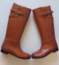 RALPH LAUREN COLLECTION SACHI CUOIO BURNISHED LEATHER RIDING BOOTS SZ 8B ITALY