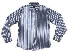 Ezra Fitch Shirt Men Size XL Blue Striped Long Sleeve Button Up
