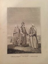 NAGAI TARTARI acquaforte 1817 viaggi Cooke universal Geography RUSSIA SIBERIA