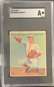 1933 Goudey Gabby Hartnett SGC Authentic HOF