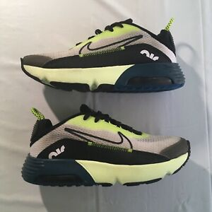 Nike Air Max 2090 Kids Size 3Y (GS) White/Black-Volt-Valerian Blue Youth 2019