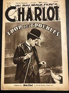 Magazine Charlot Charles Charlie Chaplin Trop De Troubles