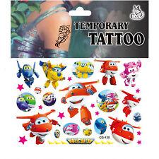 Tattoo für Kinder Kindertattoos Set Mitgebsel Kindergeburtsag Super Wings