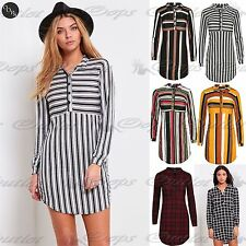 Blouse Polyester Striped Tops & Shirts for Women