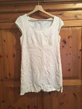 White Cotton Tshirt Dress 12/14