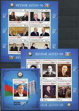Aserbaidschan Azerbaijan 2013 Aliyev Helmut Kohl Clinton Putin Flag Block 127-29