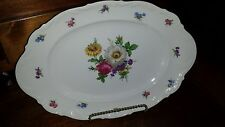 "Vintage Mitterteich ""Meissen Flora""l R/H  Large Serving Platter ** MINT**"