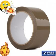 72 BIG ROLLS OF BROWN BUFF PARCEL PACKAGING PACKING TAPE 50MM X 66M CELLOTAPE