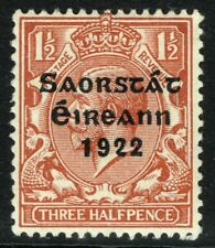 SG 54 IRELAND 1922 - THREEHALFPENCE RED-BROWN - MOUNTED MINT
