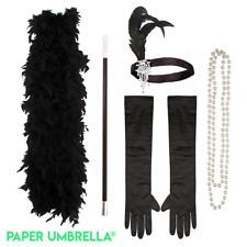 Womens Charleston Flapper Costume Accessories: Gatsby Peaky Blinder Fancy Dress