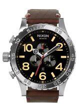 **BRAND NEW** NIXON 51-30 CHRONO LEATHER BLACK BROWN A124019 NEW IN BOX