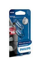 Philips White Vision Sidelight Lamp W5W T10 501 Car Two Bulbs (Pair) 12961NBVB2