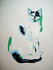 GERALD JOHNSON Abstract Cat - Op Art MCM Modernism-0404010
