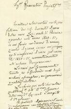 Lettera Autografo Gioacchino Taddei Chimico Farmacologo Arcispedale Firenze 1850