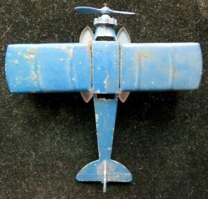 Vintage TootsieToy Blue #4675 Bi-Wing Sea Plane