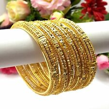 Indian Asian Size:2.8 Bridal Pakistani Jewellery 22ct Gold Plated Bangles