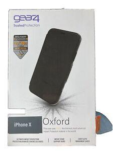 Gear4 Oxford Case for iPhone X  - Black NIB - D30
