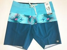 "Billabong New Tribong Pro Swim Boardshorts 19"" Mid Length Men's Size 32 Blue"