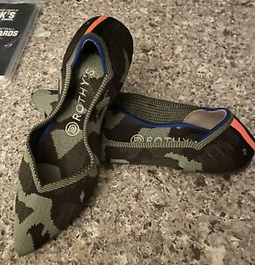 ROTHY'S Olive Camo The Point Ballet Flat Women's 8.5