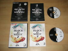 BLACK & WHITE 1&2 Pc DVD Rom 1 and 2 II - FAST DISPATCH