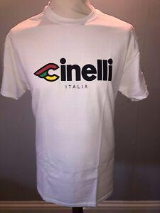 Cinelli Italia Vintage cycling white tshirt size Small