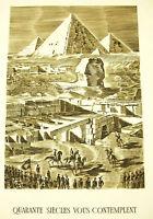 """Napoleon Bonaparte Land- Ägyptischer Giza Pyramide """" 40 Jh You Betrachten"""